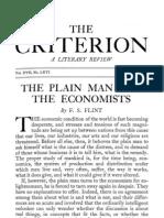 Flint-Plain Man and Economists