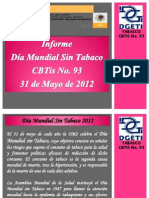 Informe Dia Mundial Sin Tabaco Cbtis 93
