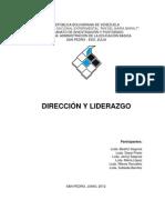 DIRECCIÓN Y LIDERAZGO