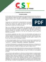 [CST] Déclaration Liminaire - Conférence de Presse du 04 Juin 2012
