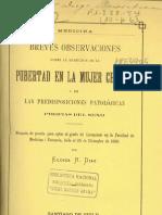 Pubertad en La Mujer Chilena