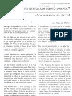 Montes Graciela - Son Sagrados Los Textos