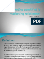 Le Marketing Sportif Et Le Marketing Relationnel Sv