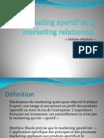 Le Marketing Sportif Et Le Marketing Relationnel Sv