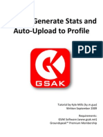 How to Generate GSAK Stats and Automatically Upload to Profile