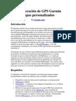 La generación de GPS Garmin mapas personalizados