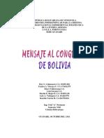 Mensaje Al Congreso de bOLIVIA