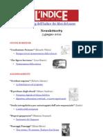 Newsletter #9 del blog dell'Indice dei libri del mese (4 Giugno 2012)
