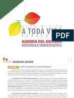Gran Misión A Toda Vida Venezuela- Agenda