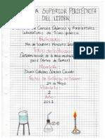 Informe de laboratorio de fisicoquímica