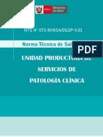 Norma Tecnica Patologia Clinica - 1457