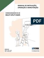 Manual Multi Split York High Wall Eiger