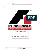 Regulamento F1inSchools - Nacional 2012