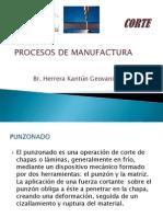 Procesos de manufactura de CORTE
