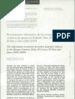 El tratamiento informativo de las víctimas de violencia de genero