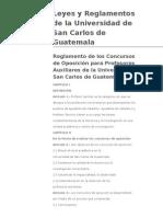 Reglamento de los Concursos de Oposición para Profesores Auxiliares de la Universidad de San Carlos de Guatemala