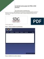 Breve Tutorial Como Pasar de PSD a CSS En