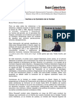 Bruno Peron-De La Verdad de Los Hechos a La Comision de La Verdad