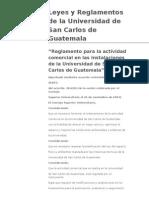 Reglamento para la actividad comercial en las instalaciones de la Universidad de San Carlos de Guatemala