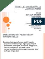 Operasional Dan Pemeliharaan Jaringan Irigasi