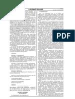 D.S. 030-2008-AG Fusion de INRENA e INADE al MINAG