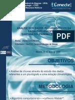 ANÁLISE DOS DADOS PLUVIOMÉTRICOS DA BACIA EXPERIMENTAL DE SANTANA DO IPANEMA