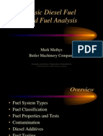 Basic Diesel Fuel and Analysis