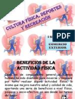 CULTURA FÍSICA, DEPORTES Y RECREACIÓN