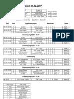Spielplan mit 8 Mannschaften - mit Resultaten
