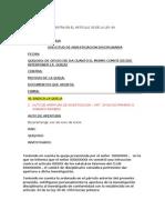Ejemplo de Proceso Disciplinario Para Fabio Como Presidente Del Comite Disciplinario