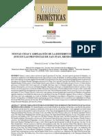 Ampiación de distribucion de aves en San Juan, Mendoza y La Rioja