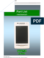 Sony Ericsson E15i Xperia X8 Part List v1