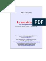 Alfred Adler - Le Sens de La Vie