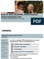 End to End (E)GPRS Performance