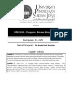 KRB 3033 – Pengantar Bahasa Melayu