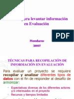Tecnicas Para Levantar Informacion Evaluacion