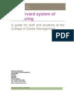 Harvard System Ref.