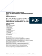 Code of Professional Conduct Standards Quantity Surveyors