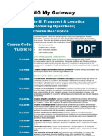 Cert III Transport & Logistics (Warehousing Operations)
