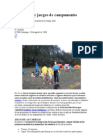 Dinámicas y juegos de campamento