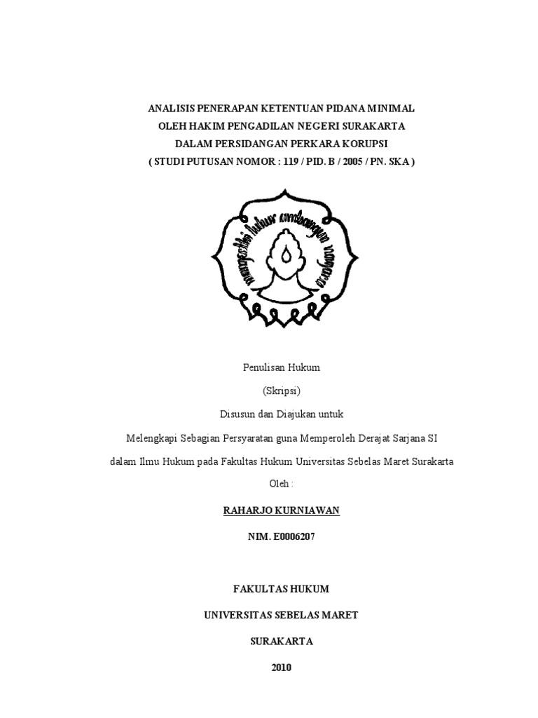 Contoh Skripsi Normatif Fakultas Hukum
