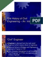 History of Civil Engineering