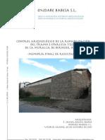 Control Arqueológico de la Rehabilitación del Tramo 2 (Parcela 7/228) de la Muralla de Bernedo, Álava. Memoria Final de Resultados.