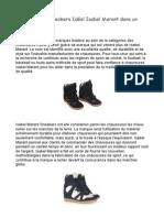À la mode Isabel Marant Sneakers sont en vente partout