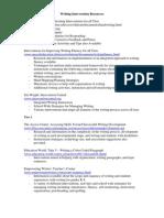 Writing Intervention Matrix Resources