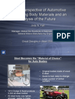 50 Year Perspective of Automotive 50 Year Perspective of Automotive Engineering Body Materials and an Engineering Body Materials and an Analysis of the Future Analysis of the Future