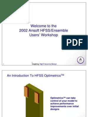 An Introduction to HFSS Optimetrics | Mathematical