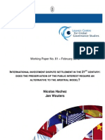 WP 81 -- Hachez & Wouters -- IIL, Arbitration and the Public Interest -- 22 Feb. 2012