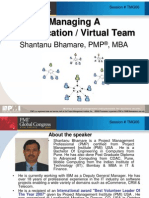 Managing Virtual Team by Shantanu Bhamare, PMP, MBA