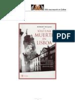 Solo Una Muerte en Lisboa - Robert Wilson - F